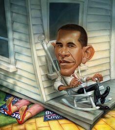 President Obama...  Fantastic Cartoon Artworks by Gary Locke