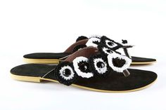 """Items similar to Jeweled leather sandal """"Retro Quilt"""" - Yellow / Beige on Etsy Leather Sandals, Baby Shoes, Beige, Jewels, Quilts, Black And White, Retro, Yellow, Trending Outfits"""