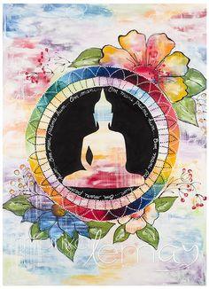 Giclée/reproduction Bouddha 1 par MarikaLemayArtiste sur Etsy