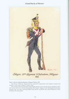 Grand Duchy of Warsaw: Plate 7. 8th Line Infantry Regiment, Voltigeur Private, 1812.