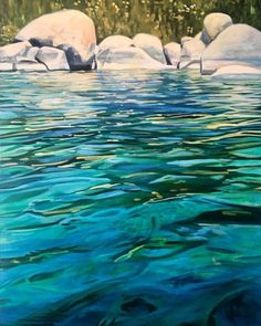 New Work from Michelle Courier — Pacific Crest Gallery Watercolor Water, Watercolor Landscape, Landscape Paintings, Acrylic Paintings, Water Drawing, Water Art, Water Aesthetic, Water Images, Map Painting