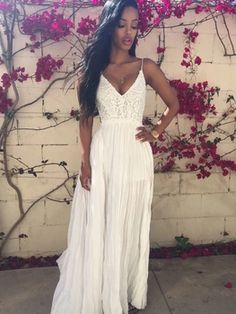 Maroon Halter Maxi Dress Hippie Boho People Chic Long White Lace Crochet Backless Beach Party Wedding Bohemian Sundress Clothing
