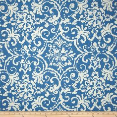 P Kaufmann Indoor/Outdoor Print Affair Cornflower Fabric By The Yard