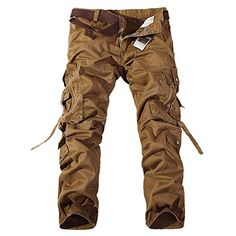Top Fashion Multi-Pocket Solid Mens Cargo Pants High Quality Plus Size Men Trousers Size Army Pants, Military Pants, Cargo Pants Men, Mens Cargo, Military Army, Military Camouflage, Men's Pants, Combat Pants, Men Trousers