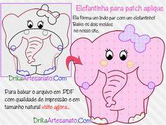 Patchwork Moldes Elefante