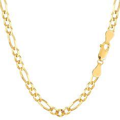 "10k Yellow Gold Royal Figaro Chain Bracelet, 4.0mm, 8"""