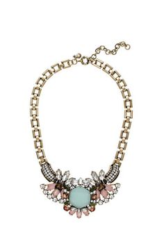 J. Crew Crystal Compilation Statement Necklace