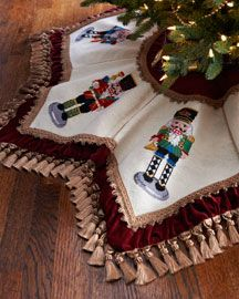 I would love this around my Nutcracker tree :-)  Find it @ Neiman Marcus Home
