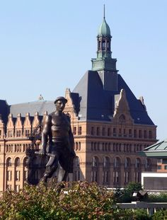 The City Hall and statue - Milwaukee,  Wisconsin, USA