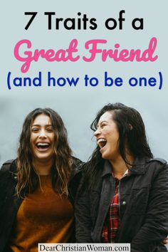 Are you looking for a great friend who is a godly influence in your life? Here are 7 traits of godly friends that create lifelong friendships, good influences, loyalty, and deep companionship. #truefriend #friendship #bff #godlyfriend #christianwomen #biblestudy #bestfriend #christianadvice #christianblogger Christian Friends, Christian Women, True Friends, Great Friends, Coping With Loneliness, Best Friendship, Feeling Lonely, Toxic People, Life Advice