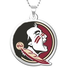 """Florida State Seminoles Women's 18"""" Silver-Plated Necklace with 3/4"""" Outline Logo Pendant - $51.99"""
