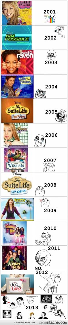 Omg I remember these shows they were all so good why did they go away?!!!???!!:( The shows now aren't nearly as good