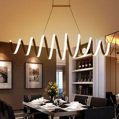 Modern LED living dining room pendant lights suspension luminaire