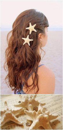 cute starfish hair clips