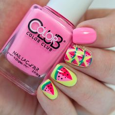 Cute Watermelon Nails by Paulina's Passions
