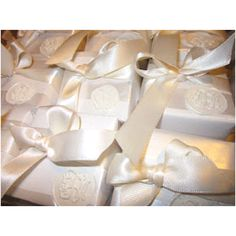 Hand waxed sealed monogram wedding favors!