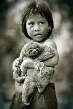 Young boy in the Upper Amazon