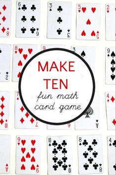 Math Card Game: Ways to Make 10 Simple math card game to work on addition skills. Kids won't even care that they are doing homework!Simple math card game to work on addition skills. Kids won't even care that they are doing homework!