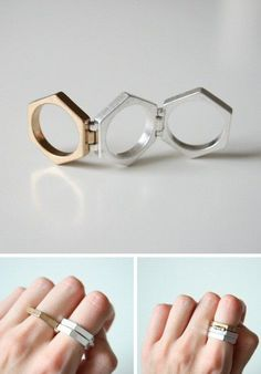 Hinged Hexagon Ring / COS