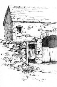 Sketchbook drawing of Sedberg