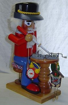 "LG 13"" Vintage German Steinbach Clock Maker Music Box Nutcracker Musical Germany | eBay"
