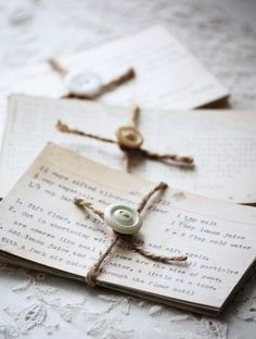 simple way to present vintage family recipes - this would be neat at a family reunion