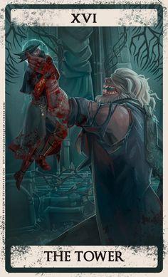 Tarrot Cards, Arte Assassins Creed, Arte Dark Souls, Old Blood, Dark Blood, Bloodborne Art, Fandom Games, Soul Art, Dark Fantasy Art