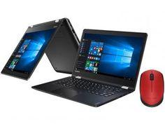 "Notebook 2 em 1 Lenovo Yoga 510 Intel Core i7 - 8GB 1TB LED 14"" + Mouse Sem Fio Laser 1000dpi"