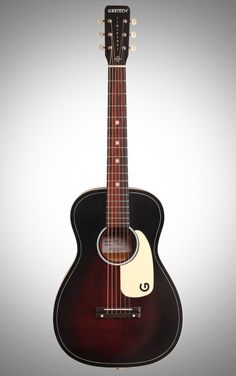 Gretsch G9500 Jim Dandy Parlor Flat Top Acoustic Guitar - Whether you're on your porch, near a campfire, or in a crowded tour bus, this throwback Gretsch flat top guitar is the perfect size for casual strumming.