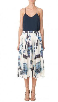 Tibi Origami skirt Oki Print Full Skirt