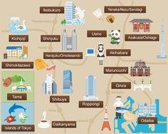 Resultado de imagen de mapa barrios tokio