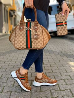 Women sneakers and bag complete set available for sale through our website. we do shipping worldwide all products made in turkey. Louis Vuitton Sneakers, Gucci Sneakers, Sneakers Mode, Sneakers Fashion, Gucci Shoes, Gucci Fashion, Fashion Bags, Fashion Handbags, Gucci Handbags Outlet