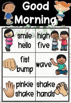 Morning Greeting Choice Board