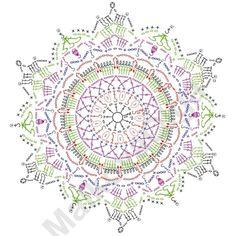 コミュニティのらくがき帳の写真   VK Crochet Snowflake Pattern, Crochet Doily Diagram, Crochet Stars, Crochet Circles, Crochet Snowflakes, Granny Square Crochet Pattern, Crochet Stitches Patterns, Crochet Motif, Crochet Doilies