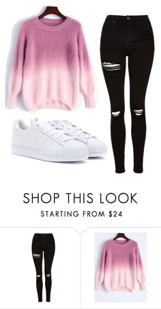 """Untitled #444"" by cuteskyiscute on Polyvore featuring Topshop and adidas"