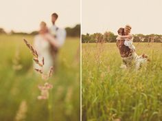 Love the unfocused picture through the grass...could do this for our fall family pictures