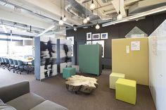 Brainstorm Area Office PON Tilburg, Netherlands by WIES | bureau voor ruimtelijk ontwerp #office #interiordesign #color #febrikfabrics #pinboard #whiteboard