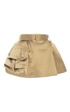 Gold Silk Satin Twill Mini Skirt by Marc Jacobs for Preorder on Moda Operandi