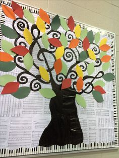 "Musical Tree - ""Music 'Leaves' Me Breathless"" :: Have students write short sentences about how music changes/affects their lives."