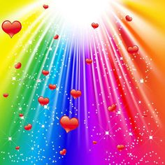 Light of the rainbow. Vector - rays of colorful light with sparkling stars , Rainbow Heart, Over The Rainbow, Rainbow Magic, Flash Design, Sparkling Stars, Rainbow Connection, Light Rays, Lights Background, Background Images