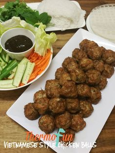 This thermomix vietnamese chicken ball recipe was shared by a close friend. The recipe is really delicious and so worth giving a go - it& great finger fo Homemade Sauerkraut, Chicken Balls, Healthy Sauces, Great Appetizers, Balls Recipe, Yummy Snacks, High Tea, Food Hacks, Asian Recipes