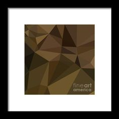 Caput Mortuum Brown Abstract Low Polygon Background Framed Print By Aloysius Patrimonio. Low polygon style illustration of a carput mortuum brown abstract geometric background. #LowPolygon   #CaputMortuumBrownAbstract