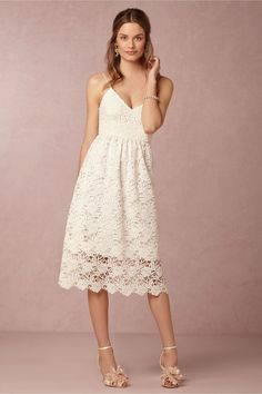 Fabulous Bridal Shower Dresses to Wear if You're the Bride! | Dress for the Wedding | Dress from BHLDN