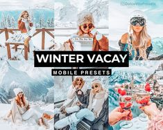 Winter Vacay - 3 Lightroom Mobile Presets for just €3,64 ✨-70%Discount!!! @dolcevitapresets #lightroompresets #lightroom #mobilepresets #presets #editpic #blogger #winter #wonderland #ukblogger #picsart Vsco, Snow Pictures, Snow Mountain, Camera Settings, Lightroom Presets, Etsy, Instagram, Travel, Color