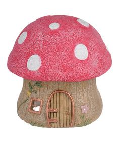 Loving this Red Mushroom Fairy House on #zulily! #zulilyfinds