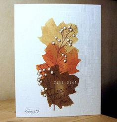 Autumn Leaves by Biggan - Cards and Paper Crafts at Splitcoaststampers
