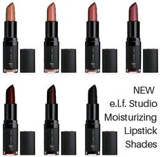 Now Available for Purchase: Seven NEW e.l.f. Studio Moisturizing Lipstick Shades