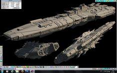 Battleship Archangel 2 by BlackEscaflowne.deviantart.com on @DeviantArt