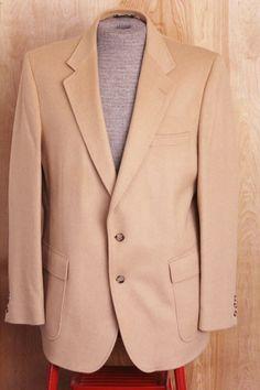 Vintage Men's Camel Blazer Sport Coat Jacket by foundundertheeaves, $35.00