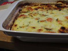 Gratin de carottes, courgettes et fromage de chèvre